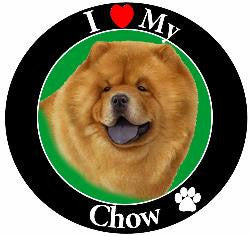 Chow Decal Magnet