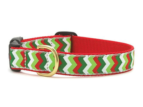 Christmas Chevron Dog Collar & Leash