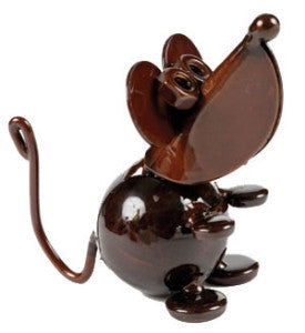 Church Mouse Copper Metal Sculpture