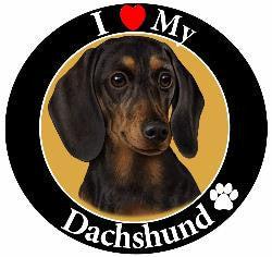 Dachshund (Black) Decal Magnet