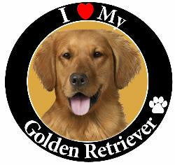 Golden Retriever Decal Magnet