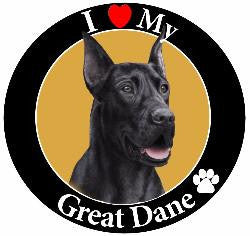 Great Dane (Black) Decal Magnet
