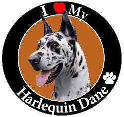 Great Dane (Harlequin) Decal Magnet