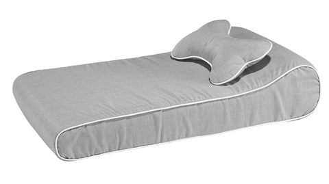 Bowsers Contour Memory Foam Lounger - Heather Grey