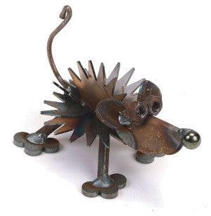 Mini Hedgehog Metal Sculpture