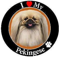Pekingese Decal Magnet