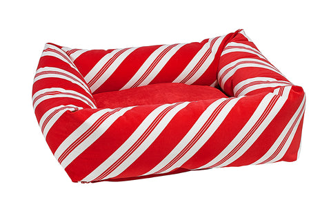 Bowsers Holiday Dutchie Bed  - Peppermint Stripe Microvelvet