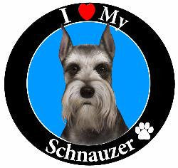 Schnauzer (Cropped Ears) Decal Magnet