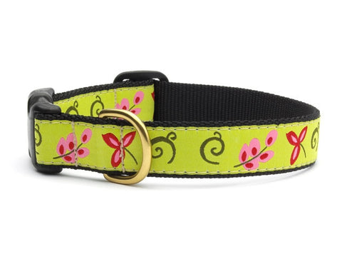 Green Floral Dog Collar