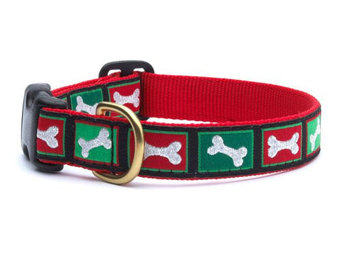 Christmas Bone Dog Collar & Leash