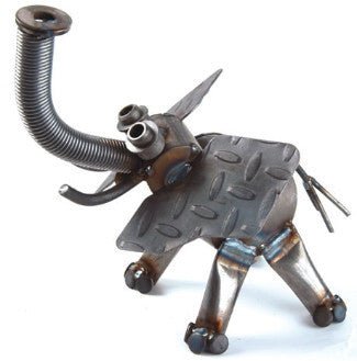 Small Elephant Metal Sculpture