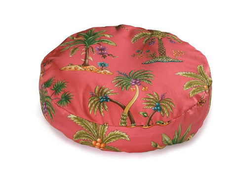 Round Pet Bed - Tropical Palms