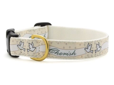 Love and Cherish Wedding Dog Collar
