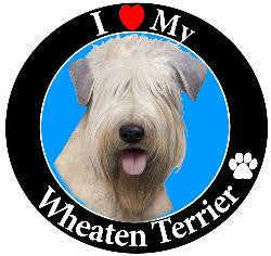 Wheaten Terrier Decal Magnet