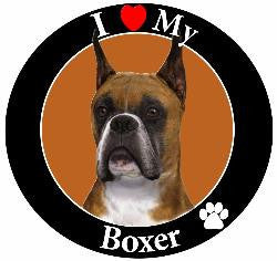 Boxer (Ears Cropped) Decal Magnet