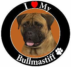 Bullmastiff Decal Magnet