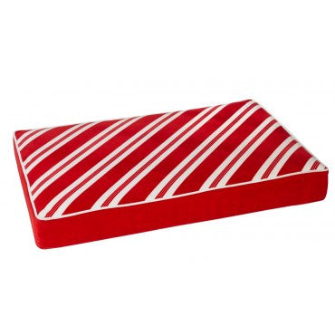 Bowsers Holiday Rectangle Peppermint Stripe Microvelvet (Candy Cane red gusset)