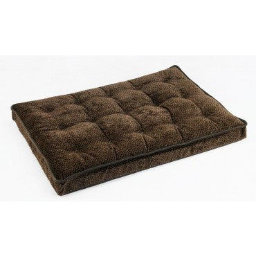 Bowsers Luxury Crate Mattress Chocolate Bones Microvelvet (Walnut trim)
