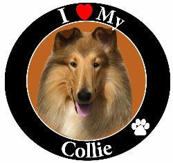 Collie Decal Magnet