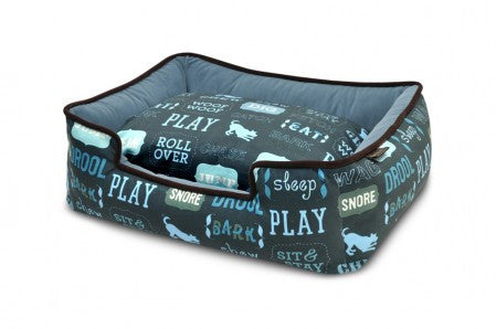 Dog's Life Lounge Bed - Sofa Blue/Ash Gray