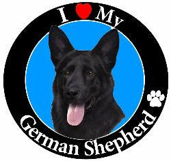 German Shepherd (Black) Decal Magnet