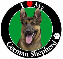 German Shepherd Decal Magnet