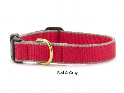 Bamboo Webbing Personalized Collars - 9 Color Combinations