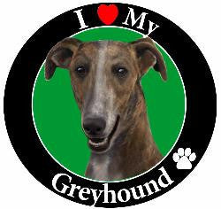 Greyhound (Brindle) Decl Magnet