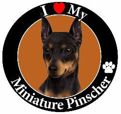 Miniature Pinscher Decal magnet