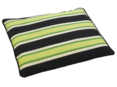 Outdoor Pet Futon - Black Awning Stripe