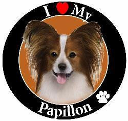 Papillon Decal Magnet