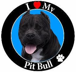 Pit Bull (Black) Decal Magnet