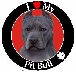 Pit Bull (Blue) Decal magnet