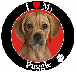 Puggle Decal Magnet