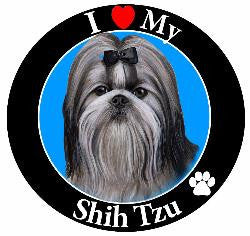Shih Tzu (Black/White) Decal Magnet