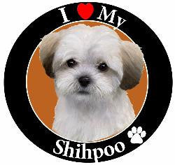 Shihpoo Decal Magnet