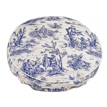 Super Soft Round - Wedgewood Toile Microvelvet