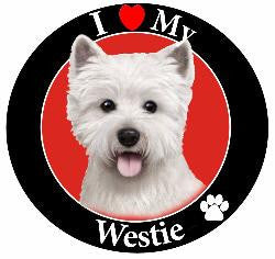Westie Decal Magnet