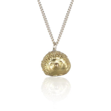 A Hedgehog's Hug Gold Necklace