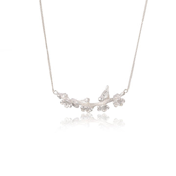 Winter Sonnet Silver Necklace