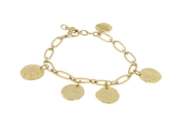 Anklet Oval Chain Coins M. Gold / M.Gold Coin U