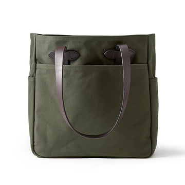 rugged twill tote bag otter green