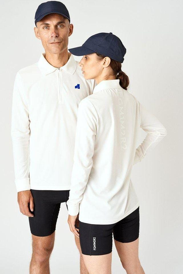 Cobalt Long-Sleeve Polo Beige / White (Unisex)