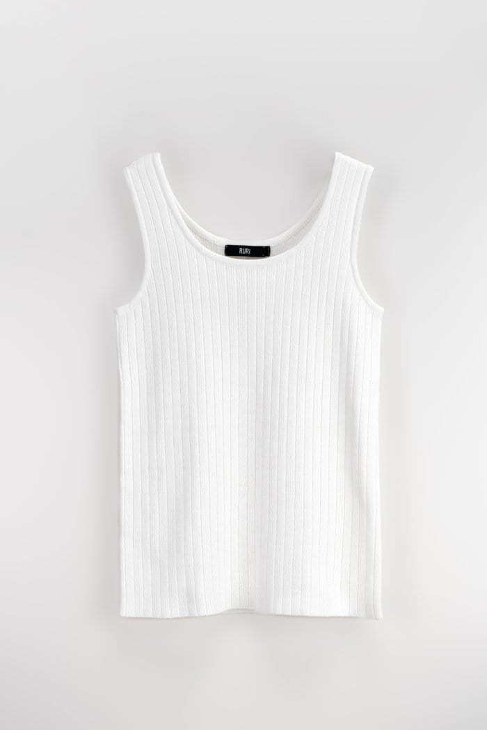 Renee Womens Sweater Vest White