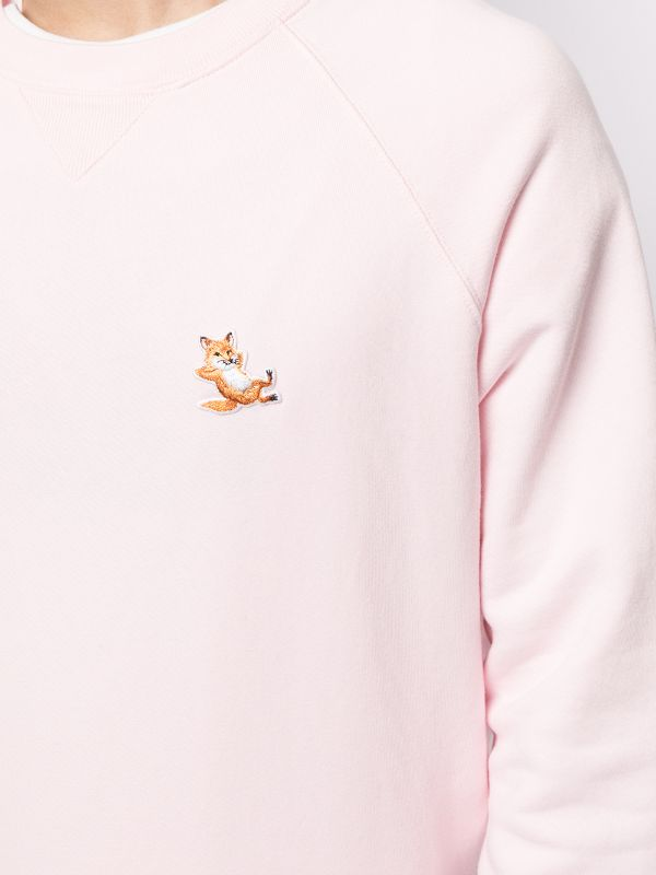 Sweatshirt Chillax Fox Patch Classic Light Pink (women)