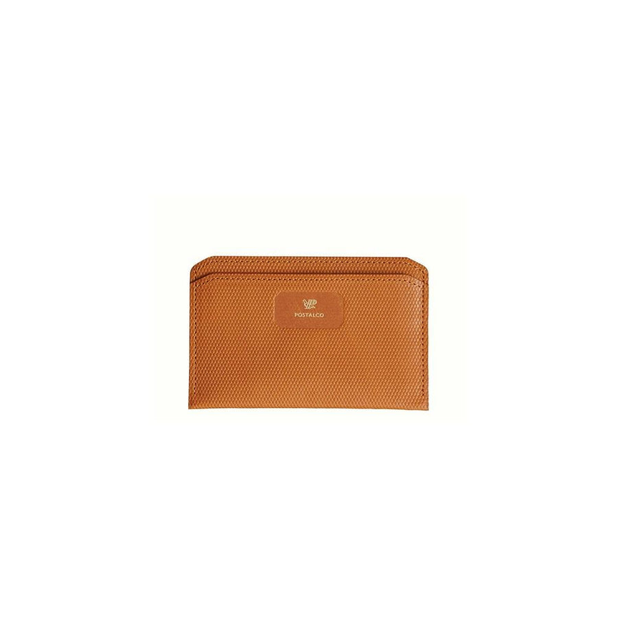 Crossgrain Leather Flat Wallet Brown