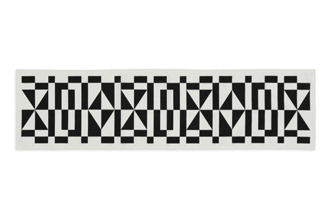 Table Runner Geometric E Black