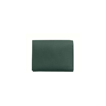 Crossgrain Leather Roll Wallet Emerald Green