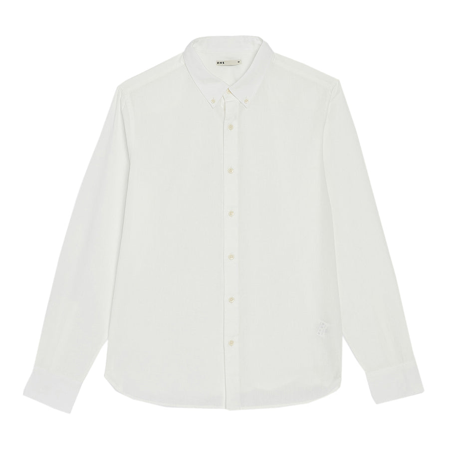 Fulton Selvage Cotton Linen Shirt LS White