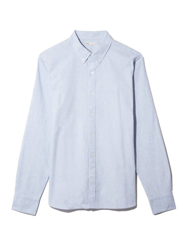 LS Shirt Fulton Oxford Heather Blue